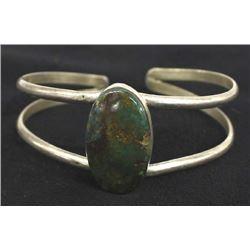 Vintage Navajo Sterling Boulder Turquoise Bracelet