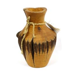 Beautiful Hand Crafted Wood Vase by Earth Gems