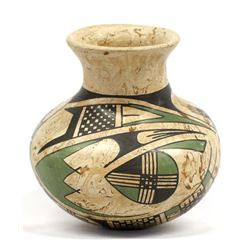 Mata Ortiz Marbleized Clay Pottery Jar by Gaona