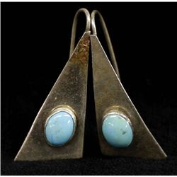 Vintage Navajo Sterling Turquoise Earrings
