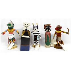 5 Native American Hopi Kachina Dolls