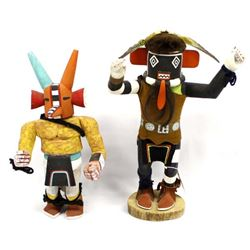 2 Native American Hopi Kachina Dolls