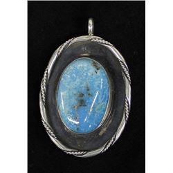 Vintage Navajo Sterling Turquoise Pendant