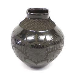 Mata Ortiz Textured Pottery Jar by Jose Gonzalez