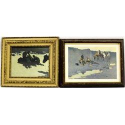 2 Frederic Remington Prints