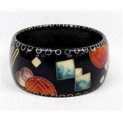 Beautiful Inlay Cloisonne' Bangle Bracelet