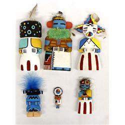 6 Native American Hopi Kachina Dolls