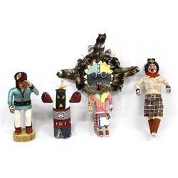 4 Native American Hopi Kachina Dolls