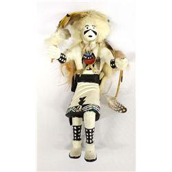 Vintage Native American Hopi White Buffalo Kachina