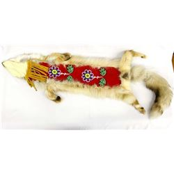 Eastern Woodland Cree Red Fox Beaded Pipe Bag