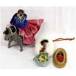 3 Pieces of Native American Folk Art