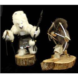 2 Native American Navajo Kachina Dolls