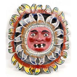Colorful Mexican Folk Art Sun Mask
