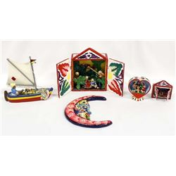 5 Pieces of Mexican & South American Collectibles