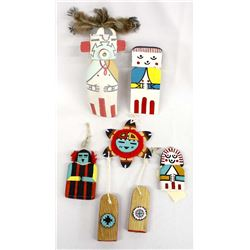 5 Native American Hopi Kachina Dolls