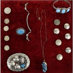 Estate Sterling Jewelry, Some Native American