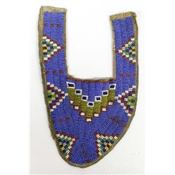 Early Sioux Beaded Moccasin Top