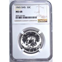 1965 SMS KENNEDY HALF DOLLAR NGC