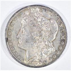1890-S MORGAN DOLLAR, CH BU