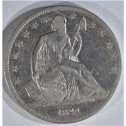 1841-O SEATED LIBERTY HALF VF