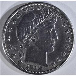 1912-D BARBER HALF AU/BU