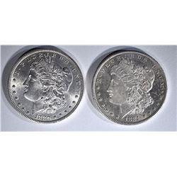 1880 & 1881-O MORGAN DOLLARS CH BU