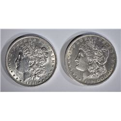 1891 AU/BU, & 1897-O AU MORGAN DOLLARS