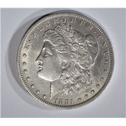 1891-O MORGAN DOLLAR AU++