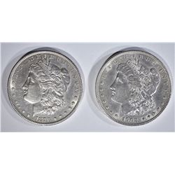 1878-S & 1902 MORGAN DOLLARS AU+