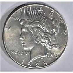 1928 PEACE DOLLAR AU/BU SCRATCHES