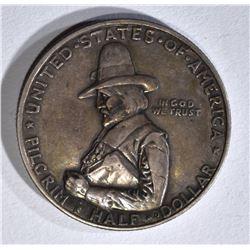 1920 PILGRIM COMMEM HALF XF
