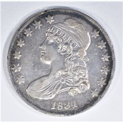 1834 BUST HALF DOLLAR XF/AU RIM NICKS