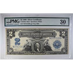 1899 $2 SILVER CERTIFICATE  PMG 30  MULE