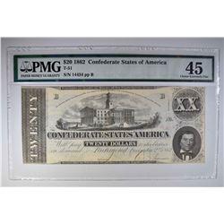 1862 $20 CONFEDERATE STATES OF AMERICA