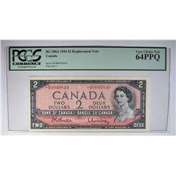 1954 $2 CANADA STAR REPLACEMENT NOTE