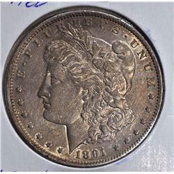 1891-CC MORGAN DOLLAR  CH.AU