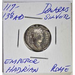 117-138 AD SILVER DENARIUS