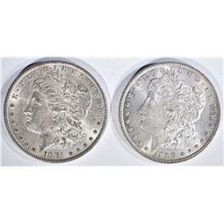 1881 & 97 CH BU MORGAN DOLLARS