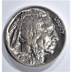 1936 BUFFALO NICKEL GEM BU