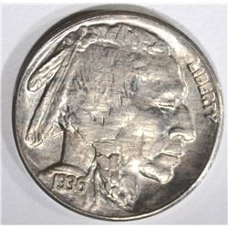 1936-S BUFFALO NICKEL, GEM BU