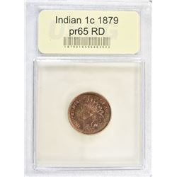 1879 INDIAN CENT, USCG GEM PROOF RED
