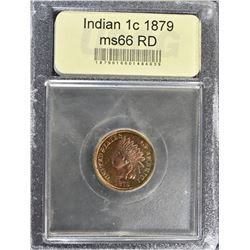 1879 INDIAN CENT, USCG SUPERB GEM BU RED
