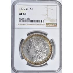 1879-CC MORGAN DOLLAR, NGC XF-40 KEY DATE