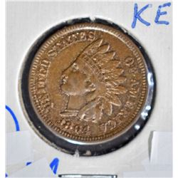 1864-L INDIAN HEAD CENT  AU/UNC