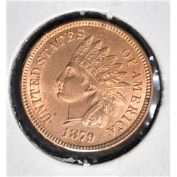 1879 INDIAN HEAD CENT  GEM BU RED