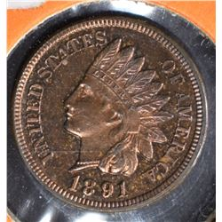 1891 INDIAN HEAD CENT  CH PROOF