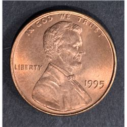 1995 DOUBLE DIE LINCOLN CENT  GEM BU