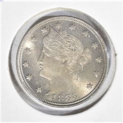 1883 NO CENTS LIBERTY V NICKEL  GEM BU