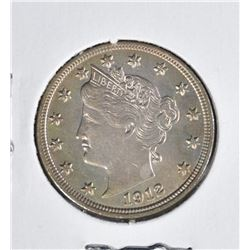1912 LIBERTY V NICKEL  CH BU