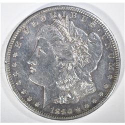 1890-CC MORGAN DOLLAR  AU/UNC